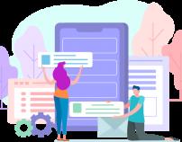 Web development using templates